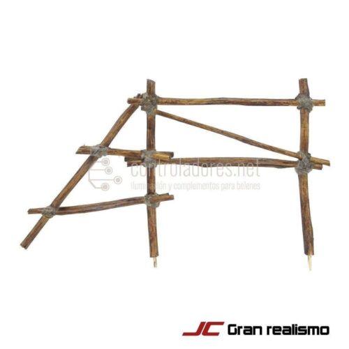 Valla de camino de madera encordada 20x11,50 cm