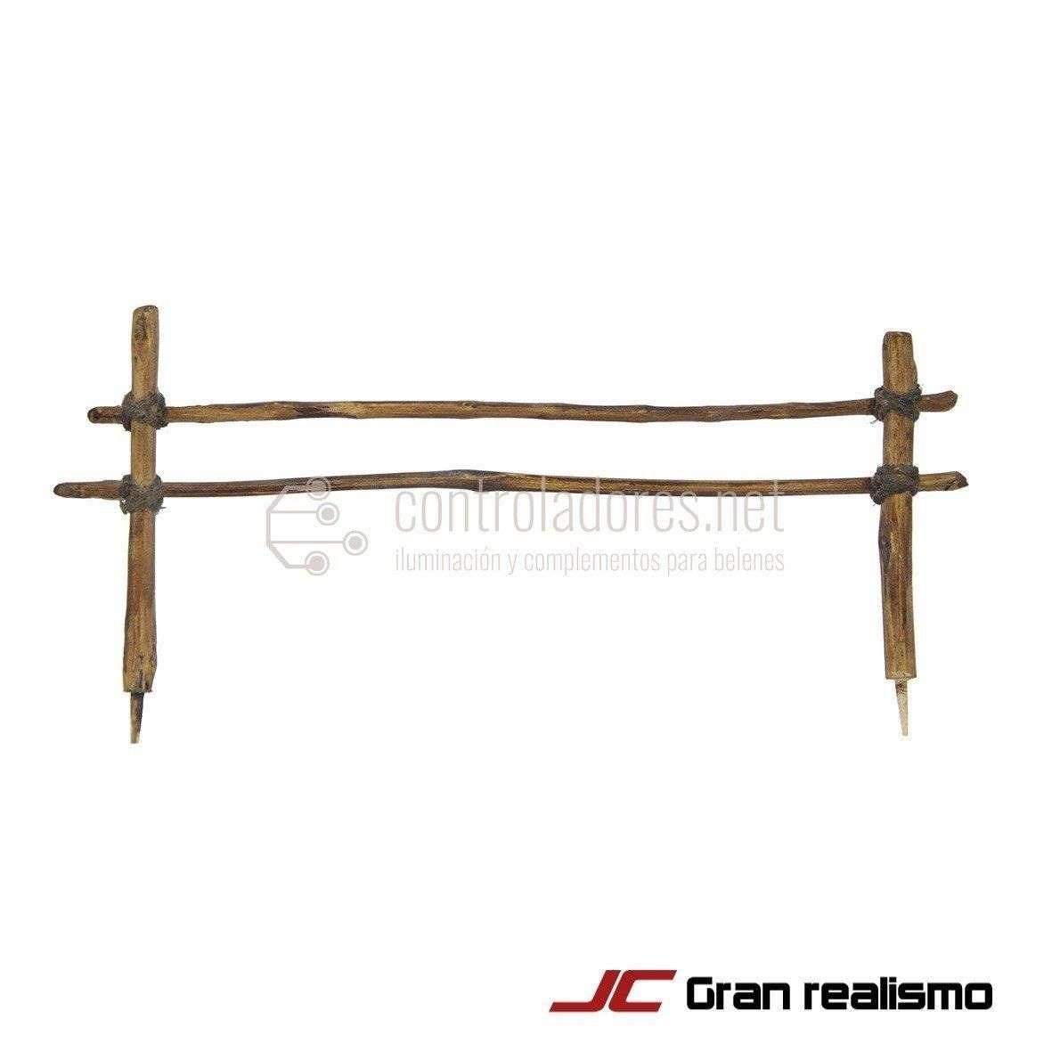 Valla de camino de madera encordada 16x6,50 cm
