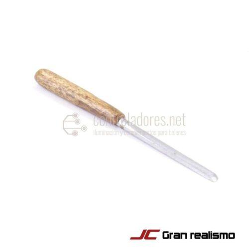 Gubia metal con empuñadura de haya 5 cm. Modelo F