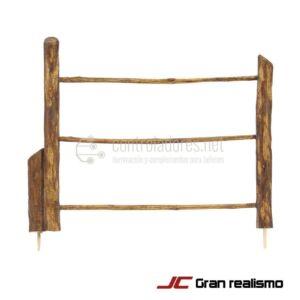 Valla de camino en madera de olivo 16x12.5
