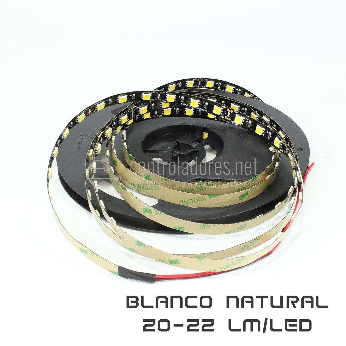 Tira LED Profesional BLANCO NATURAL máxima luminosidad 20-22lm/LED