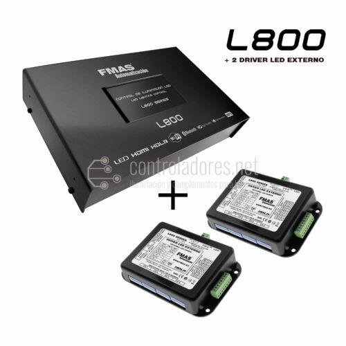 Controllo dell'illuminazione a LED L800 + 2 DRIVER