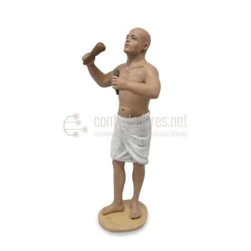Egipcio escultor en pie