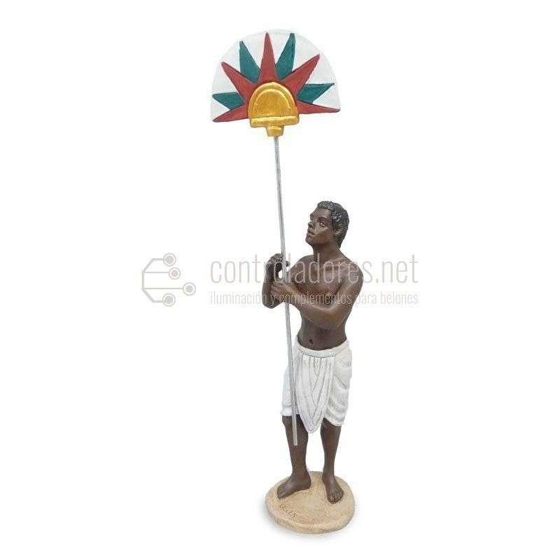 Esclavo egipcio con abanico