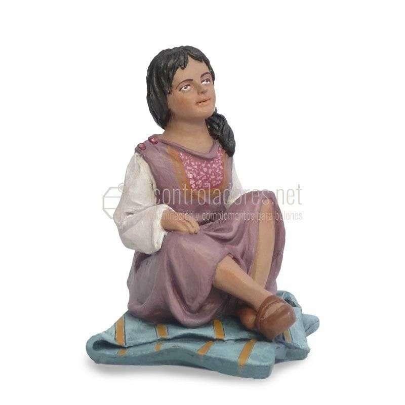 NIÑA sentada pies cruzados para 19 cm.