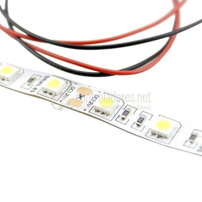 Tira LED (10cm) Blanco cálido 1.44W con cable.