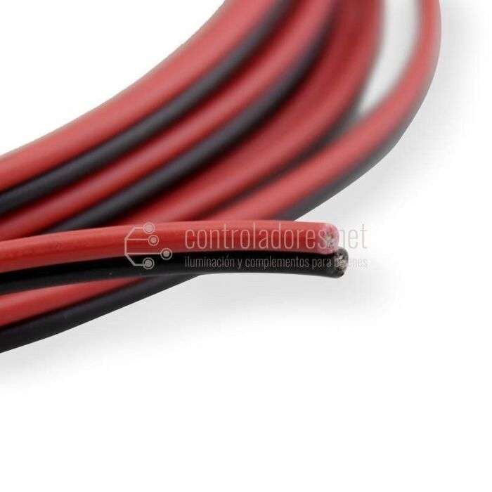 Rollo 5 metros cable ROJO-NEGRO 0,35mm2