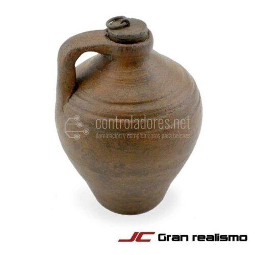 Ceramica di argilla con manico e tappo di legno