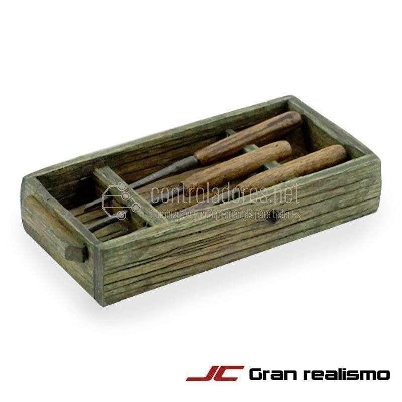 Gubias con soporte de caja