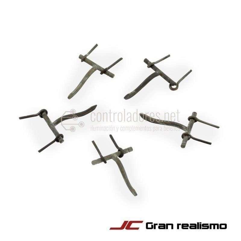 Cerojos de metal (5uds)