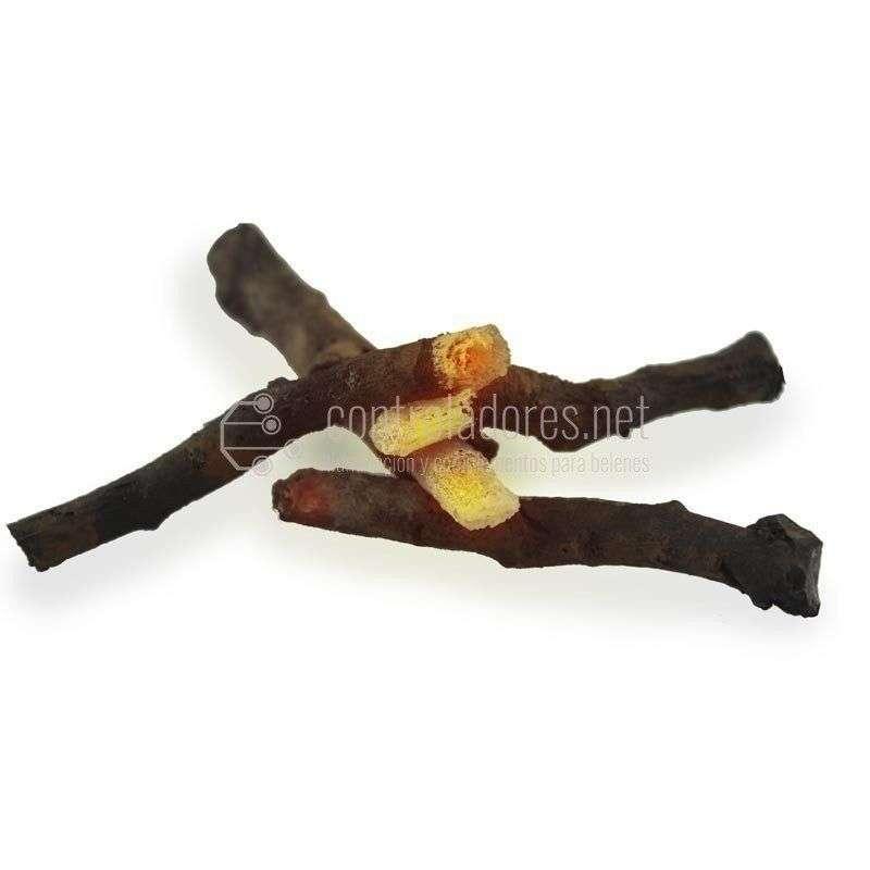 Juego de troncos para hoguera (4uds)