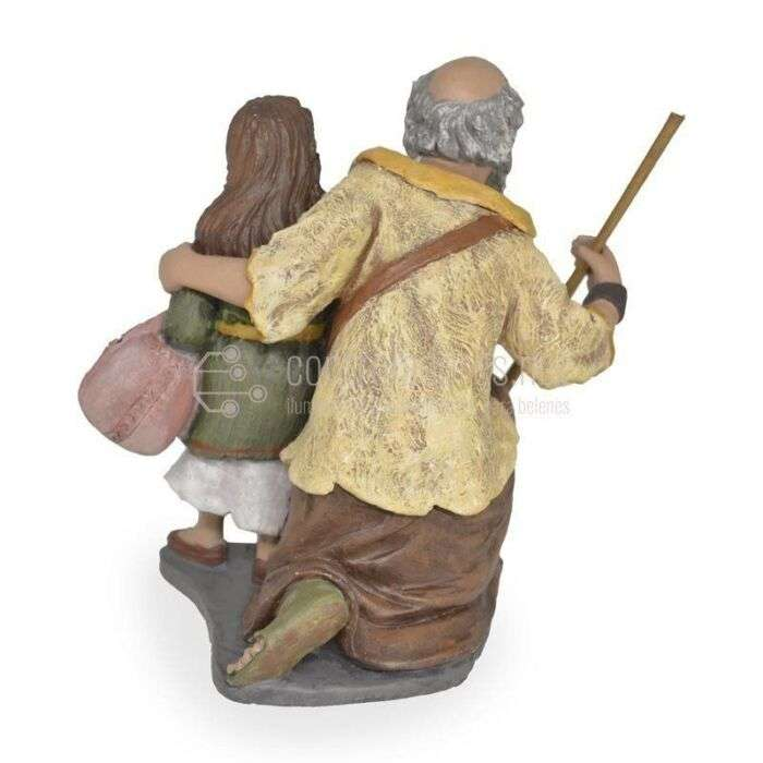 Pastor adorando con niña nº13