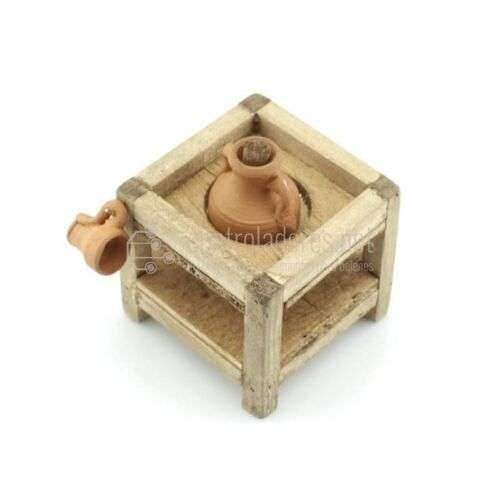 Soporte mini de madera para una tinaja