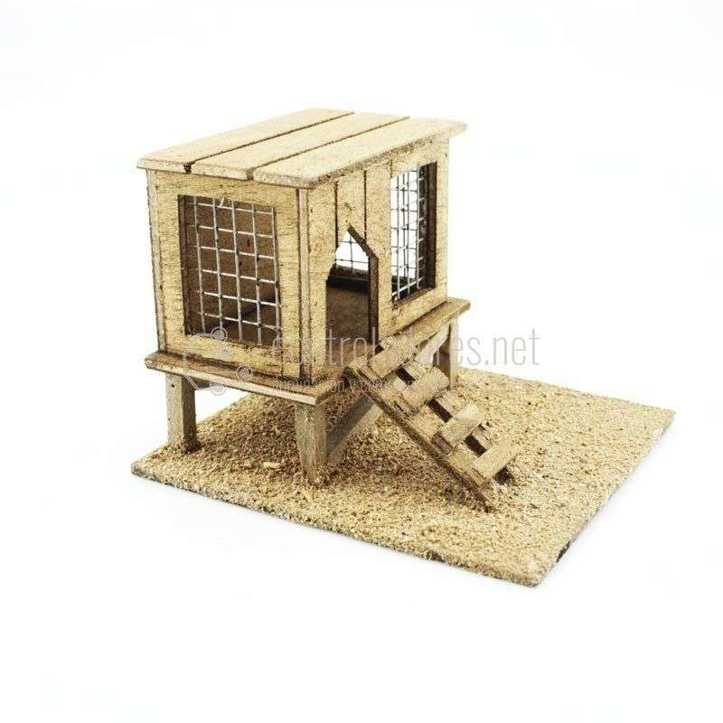 Gallinero pequeño de madera