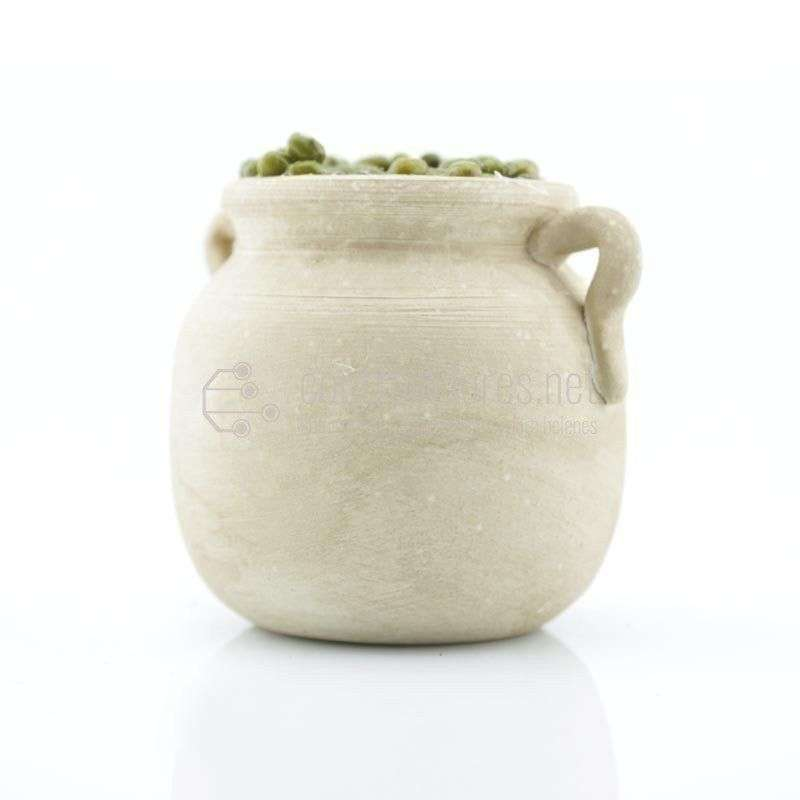 Tinaja blanca grande con aceitunas