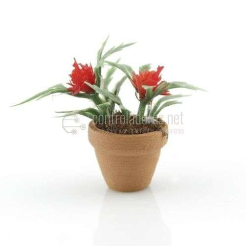 Maceta mini con flor roja