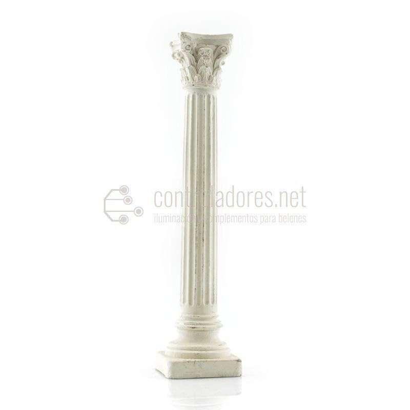 Columna entera pequeña de marmolina