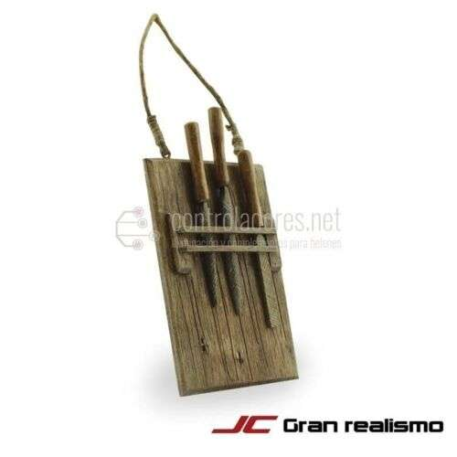 Juego de limas con soporte de madera