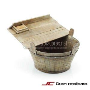 Barreño con tabla para lavar grande