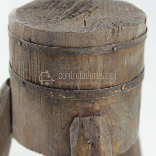 Tajadera de madera y metal