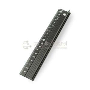Regla 20 cm. aluminio con sistema antideslizante