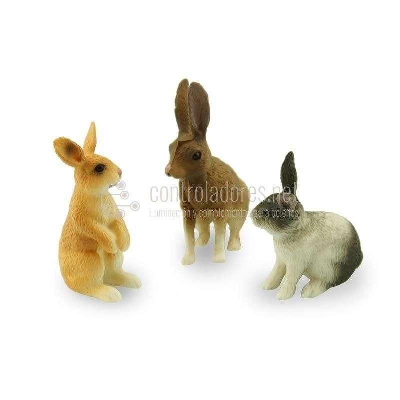 Grupo de conejos (3 unidades)